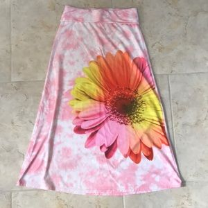 Justice swim cover up or dress pink w/ flower 12
